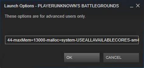 pubg launch options параметры запуска playerunknown s battlegrounds