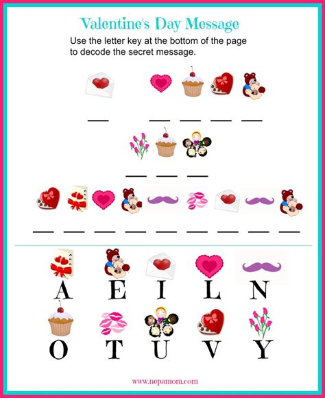 s day secret message worksheet nepa