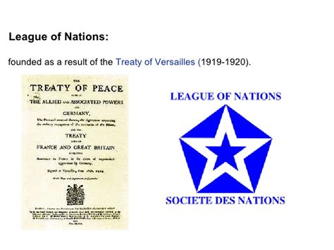 when was the league of nations formed league of nations in the i world war