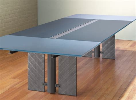 Modern Glass Conference Table