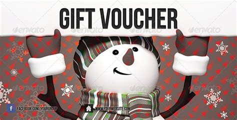 christmas vouchers sample templates