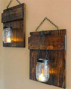 25 best ideas about pallet wall decor on pinterest With best brand of paint for kitchen cabinets with wall candle holders sconces
