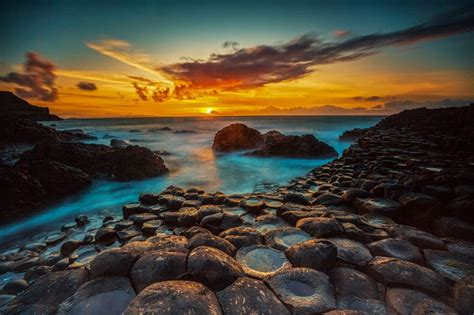giants causeway sunset  ireland  kenny gibson  px