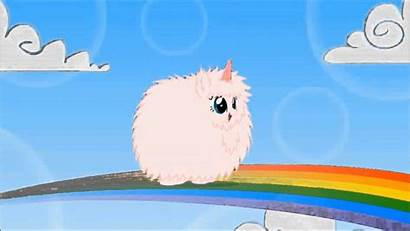 Fluffy Unicorns Pink Rainbows Dancing Wallpapers Background
