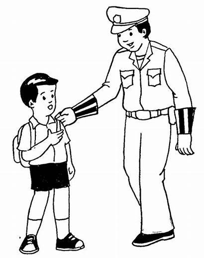 Polisi Gambar Mewarnai Anak Kartun Untuk Profesi