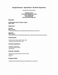 sample resume format for high school graduate with no With how to do a high school resume