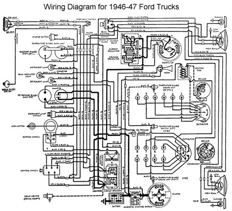 Wiring Diagram 1951 F1 Ford Truck by 1946 Ford A 6v Positive Ground To 12v Ton Wire Diagram