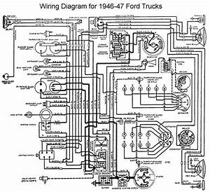 1946 Ford  A 6v Positive Ground To 12v  Ton  Wire Diagram