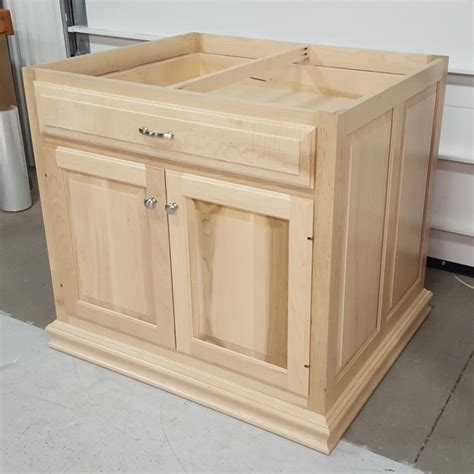 kitchen island base custom maple kitchen island base cabinet amish custom 1837