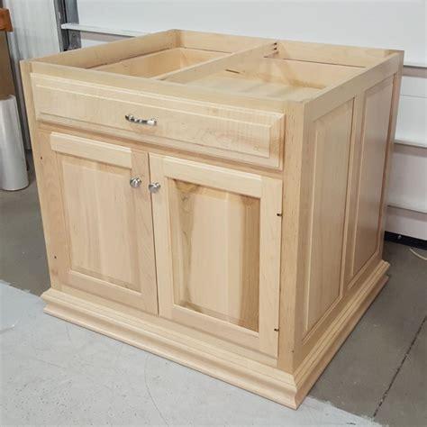 custom maple kitchen island base cabinet amish custom