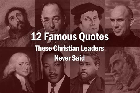 famous quotes  christian leaders
