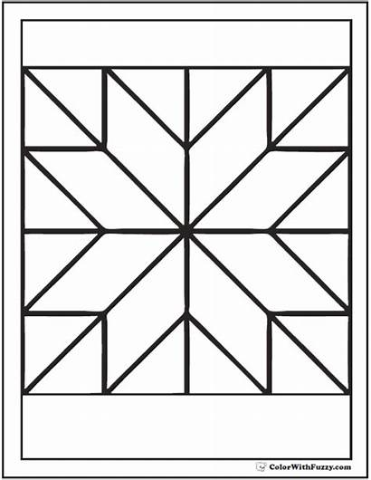 Coloring Quilt Pattern Pages Patterns Blocks Printable