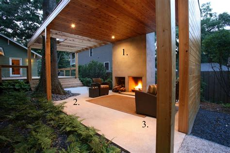 New Patio Ideas by A Modern Backyard Room With Fireplace Hgtv