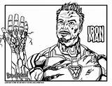 Iron Endgame Avengers Draw Drawing Coloring Too Drawittoo Tutorial Colouring sketch template