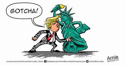 Liberty Lady Gotcha Trump Donald Funny Pocho