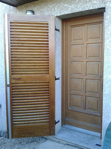 un volet de porte 224 persiennes bois le bouvet