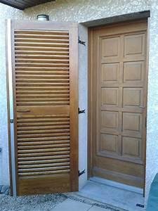 un volet de porte a persiennes bois le bouvet With realiser une porte en bois