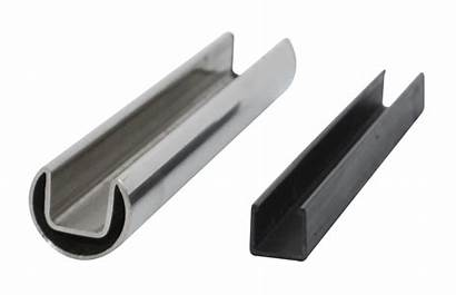Steel Stainless Railing Tube Glass Rail Slotted