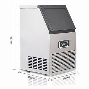 110lbs Auto Commercial Ice Cube Maker Machine Stainless