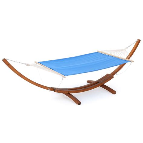 Free Standing Hammock by Noble House 13 69 Ft Free Standing Blended Fabric Hammock