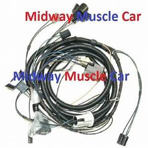Front End Headlight Lamp Wiring Harness 71 72 Pontiac Gto