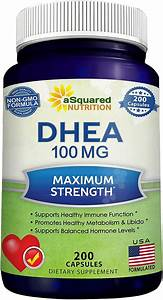 Pure Dhea  100mg Max Strength  200 Capsules  To Promote Balanced Hormone Levels For Women  U0026 Men