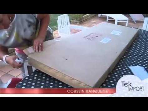 coussin banquette 150x54cm tek import