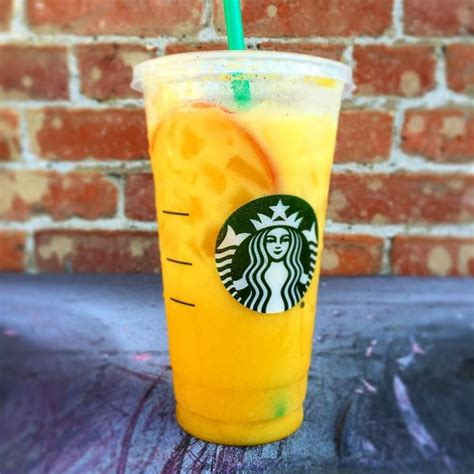 starbucks  mystery orange beverage joins  tasty