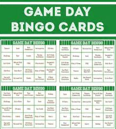 Super Bowl Bingo Cards Printable