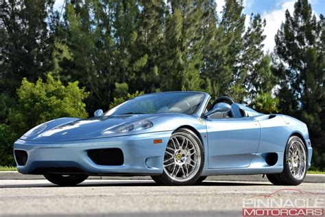 See the 2001 ferrari 360 spider f1 in los angeles, ca for $64,777 with a vin of zffyt53a910122953. 2001 Ferrari 360 SPIDER/SPIDER F1 | Pinnacle Motorcars