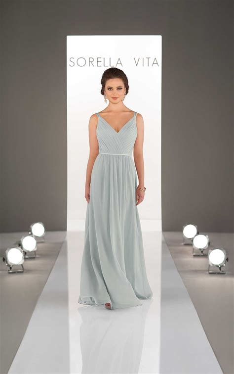 neck bridesmaid dress sorella vita
