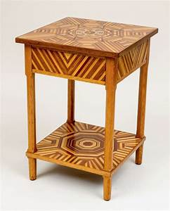 American, Folk, Art, Marquetry, Side, Table, At, 1stdibs