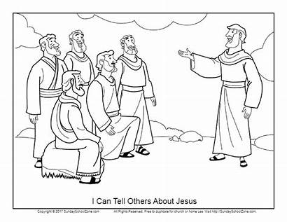 Jesus Coloring Others Tell Pages Bible Peter