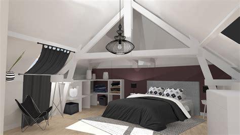 chambre aubergine best aubergine chambre combles parquet gris anthracite