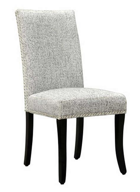 fabric side chairs armen living accent nail side chair ash fabric al 3652