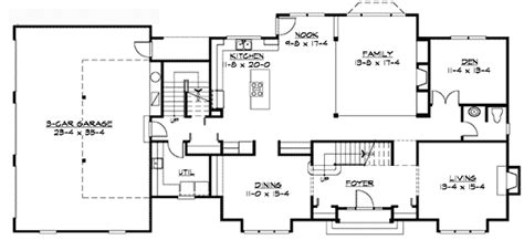 traditional floor plans traditional colonial home plan 23309jd architectural