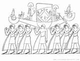 Coloring Printable Funeral Ancient Procession Egypt Egyptian Tomb Sheet Scene Depicts Adapted Detailed Adult sketch template