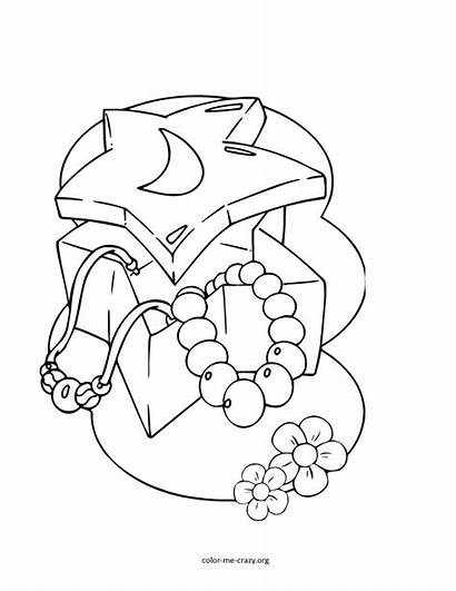 Coloring Pages Jewelry Things Printable Jewels Sheets