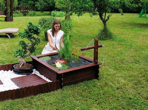 pour agr 233 menter le jardin on installe un bassin avec des