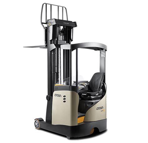 Stand Up Reach Forklift by Reach Truck Esr Series Crown Equipment Corporation