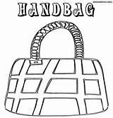 Handbag Coloring Pages Colorings Shoping sketch template