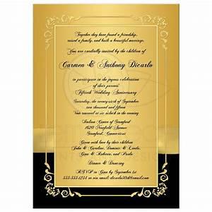 50th wedding anniversary invitation black and gold With 50th wedding anniversary invitation