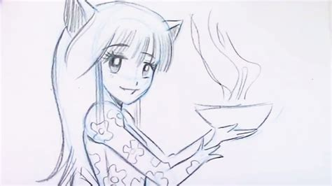 draw manga cat girl neko  beginners youtube