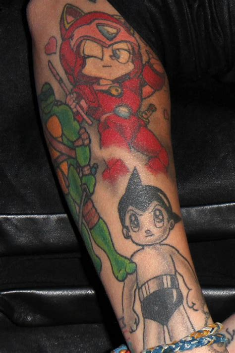 ruby rose astro boy forearm tattoo steal  style