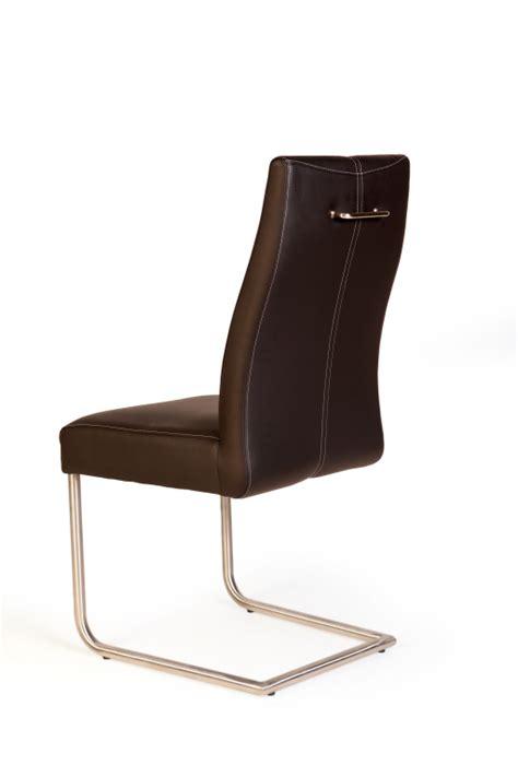 chaise à piètement luge jumbo chaise à piètement luge inox marron sb meubles