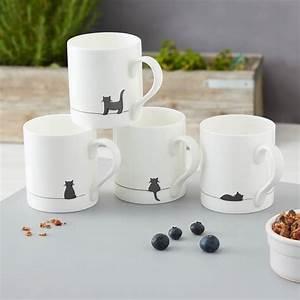 Mug à Thé : crouching cat mug fine bone china by jin designs ~ Teatrodelosmanantiales.com Idées de Décoration