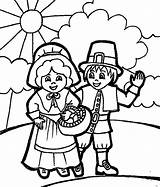 Coloring Thanksgiving Pilgrim Pages Printable Pilgrims Even Lots sketch template