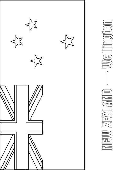zealand flag coloring page    zealand