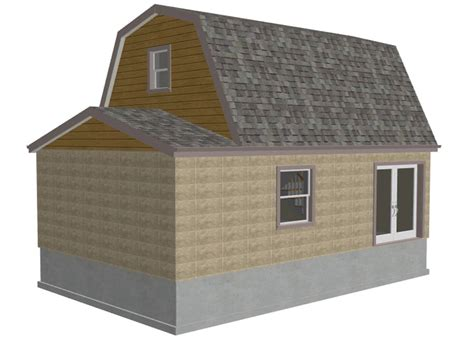 Shed Plans 16x20 Free by G455 Gambrel 16 X 20 Shed Plan Free House Plan Reviews