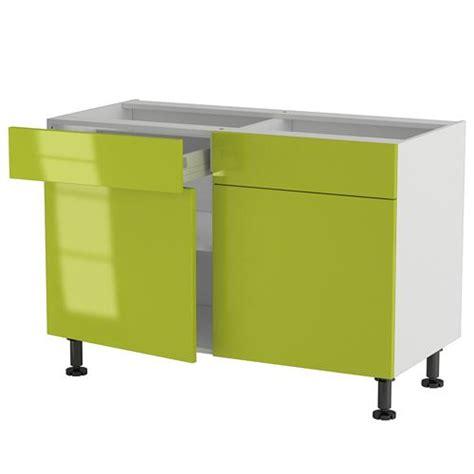 but meuble de cuisine bas meuble cuisine bas 120cm 2 tiroirs portes 60 70 achat